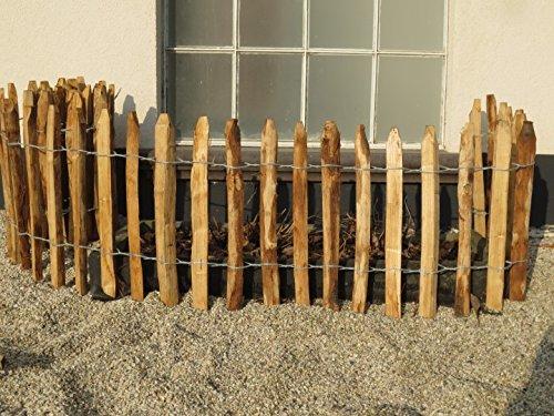 STILTREU Staketenzäune Staketenzaun Kastanie Höhen 50 cm - 200 cm, 5 Meter Rolle, 3 Versch. Lattenabstände (Länge x Höhe: 500 x 50 cm, Lattenabstand: 6-8 cm)