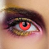 Lentes De Contacto De Color Rojo Sangre Halloween (1 Día)