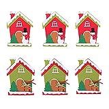 Jilibaba Juego de 6 cubiertos de Navidad para decoración de cubiertos con bolsillos, cuchillo, tenedores, bolsas de vajilla, decoración de mesa de Navidad para Navidad, fiesta en el hogar
