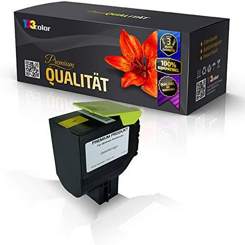 Alternative Tonerkartusche Yellow mit 3.000 Seiten für Lexmark CS310 DN CS310n CS410 DN CS410dtn CS410n CS510de CS510dte 70C2HY0 Yellow Gelb