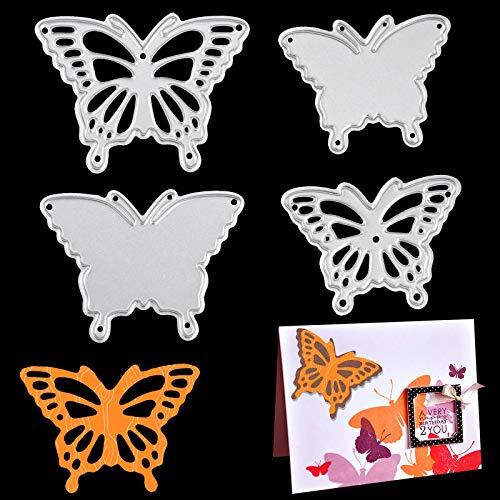 OOTSR 4 Piezas Troqueles de Corte de Mariposa, Plantillas Decorativas DIY Scrapbooking Papel Craft Arte de Tarjeta para álbum de Recortes