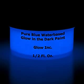 Pure Blue Glow in the dark paint 1/2 Fluid Oz