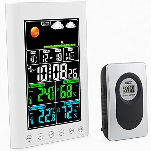 EstacióN Meteorológica con Sensores Inalámbricos, Weather Station Pantalla LCD Digital, con Alerta y...