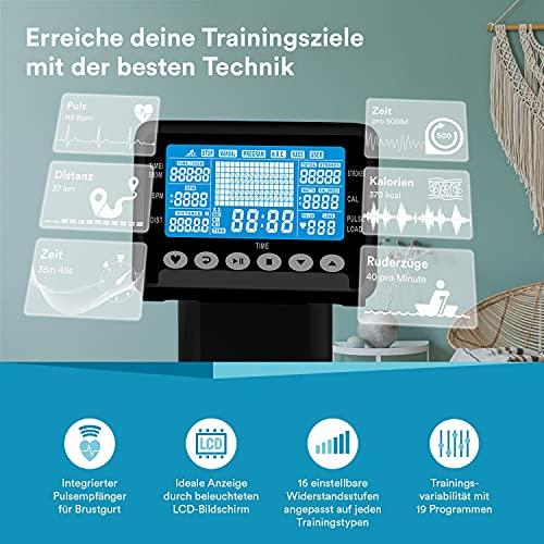 Skandika Njord Rudergerät Trainingscomputer