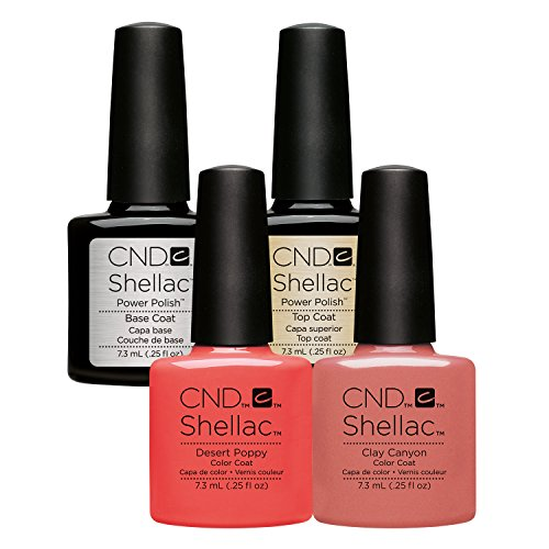 CND Shellac Tequila Sunrise Pack 2 - Desert Poppy & Clay Canyon