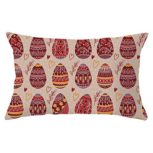 Easter Pillow Cover Oil Painting Single-Sided Brushed Peach Skin Square Decorative Pillow Case Cushion Cover for Home Car Sofa Chair Decoration 12X20 Inches #17