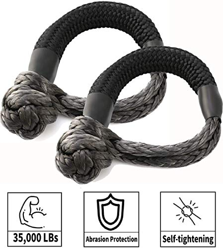 Best Price! Kohree Synthetic Soft Shackle,7/16 Inch X 20 Inch (35,000lbs Breaking Strength) UHMWPE S...