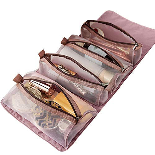 Fascigirl Conjunto De Bolsas De Cosméticos Desmontables Con Bordado Impermeable 4 En 1 Neceser Colgante Bolsa De Maquillaje Bolsa De Viaje Bolsa De Aseo Bolsa De Cosméticos