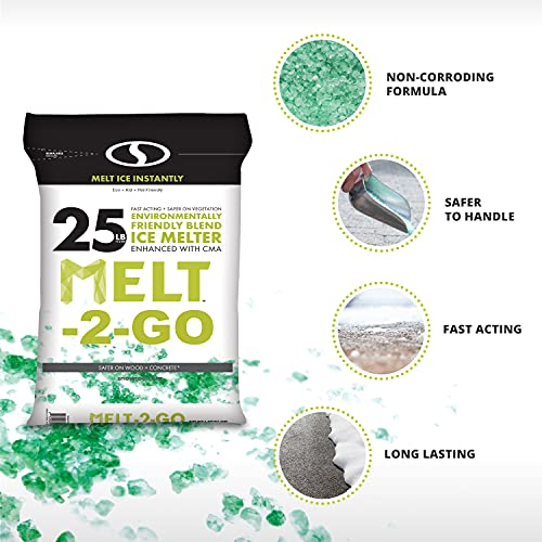 Snow Joe AZ-25-EB Melt-2-Go Nature + Pet Friendly CMA Blended Ice Melter, 25-lb Bag