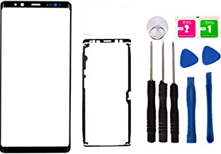 Replacement Repair Front Outer Top Glass Lens Cover Screen for Samsung Galaxy Note 8/Note8 N950 Mobile Phone Curved Surface Parts (No LCD and Touch Digitizer) (Black)