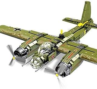 General Jim's Bomber Plane Army Toys - Iron Empire 559pcs Military Ju-88 Bombing Plane Building Block WW2 Model Toy Brick Building Army Airplane Set