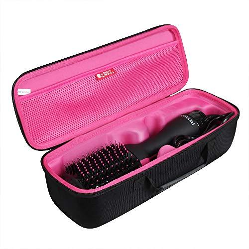 Hermitshell Étui de voyage pour sèche-cheveux Revlon One Step et brosse à air chaud Volumizer (noir + rouge prune)