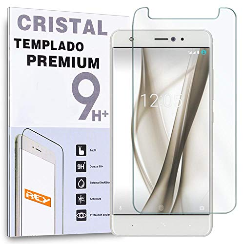 REY Protector de Pantalla para BQ AQUARIS X/BQ AQUARIS X Pro, Cristal Vidrio Templado Premium