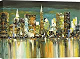 Art Print Cafe – Cuadro, Paisaje – Impresion sobre Lienzo - Luigi Florio, Le Mille luci di New York – 100x70 cm