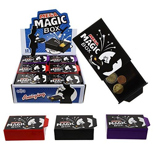 Cepewa Magische Box Zauberbox Geldgeschenke Trickbox 11cm Bunt Trickkiste Geschenkbox