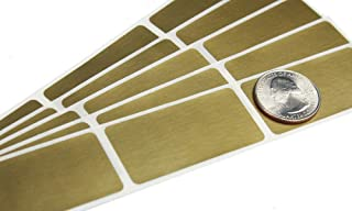 My Scratch Offs 1 x 2 Inch Gold Rectangle Scratch Off Sticker Labels - 100 Pack