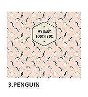 乳歯ケースプレミアム(My Baby Tooth Box)アーカイブ、記録帳(海外直送品) (penguin)