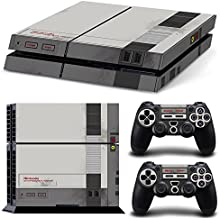 ZoomHit Ps4 Playstation 4 Console Skin Decal Sticker Old NES Retro + 2 Controller Skins Set