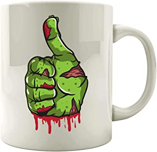 A Bloody and Scary Zombie Thumbs Up - Mug