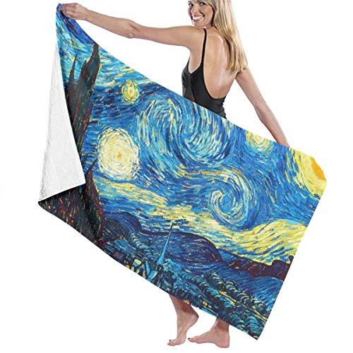 Bensontop Toallas de Playa Van Gogh The Starry Night Toalla de Manta de Playa Grande Toalla de baño Ultra Suave Altamente Absorbente de Gran tamaño 32 x 52 Pulgadas