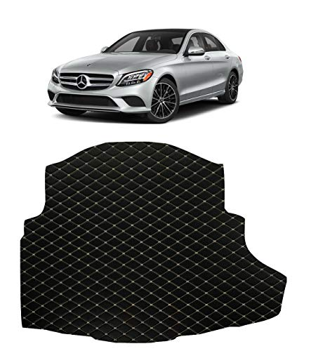 Custom Fit All Weather Heavy Duty Trunk Cargo Liner for 2015 2016 2017 2018 2019 2020 Mercedes Benz C Class C300 4 Matic - Black 2D Flat