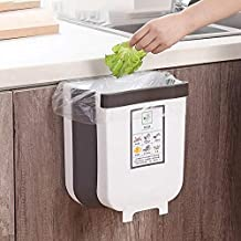 Amazon Prime AICONEZ Kitchen Trash Can, Cabinet Door Hanging Bin Trash Can,Hanging Trash Can Collapsible Small Garbage Was...