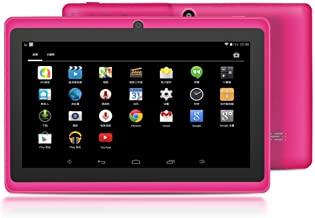 YUNTAB 7 inch Tablet, 1GB RAM 8GB ROM, Google Android OS, Allwinner A33 1.5GHz Quad core CPU, with Pre-Load Games APP, 1024600 Touch Screen with WiFi and Dual Camera.(Rosy)