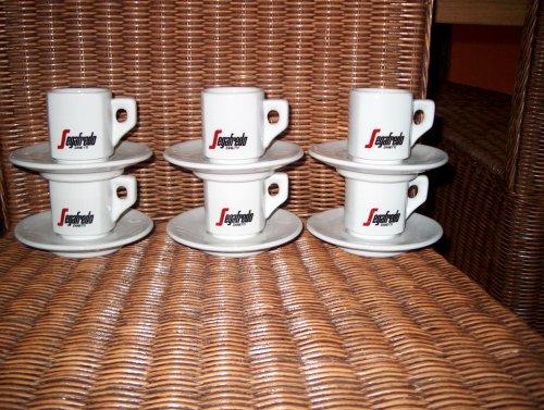 Segafredo Cappuccinotassen 6 Stück +Untertassen