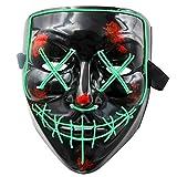 MeiGuiSha LED Maske Purge Maske mit 3 Blitzmodi für Halloween Fasching Karneval Party Kostüm...