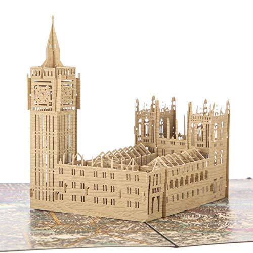 Palace of Westminster Pop Up Card | Big Ben Pop Up Card, Souvenir a tema Londra, Biglietti di auguri...