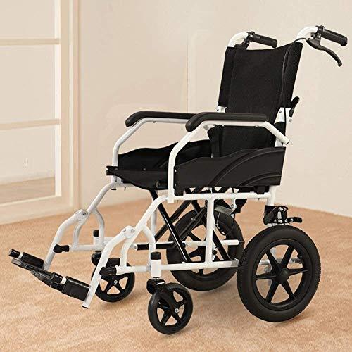 Syxfckc Cubierta Vieja Silla de Ruedas de conducción Ancianos, discapacitados Carro pequeño y Ultra Ligero, Multi-Bloque, Desmontable, Resistente
