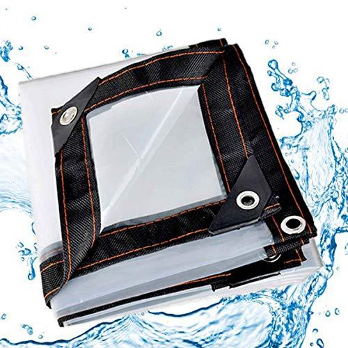 Xigg transparant dekzeil, transparant, waterdicht, scheurvast, verstevigde randen met oogjes/stabiel, voor tuinmeubelen, barbecue, auto, zwembad, trampoline