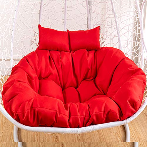 LICEA Nest Washable Swing Chair Cushion,Wicker Ratta Hanging Basket Chair Cushion With Zipper,Polyester Seat Cushion For Indoor Balcony Garden Patio