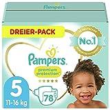 Pampers Baby Windeln Größe 5 (11-16kg) Premium Protection, 78 Stück, Pampers Weichster Komfort Und Schutz