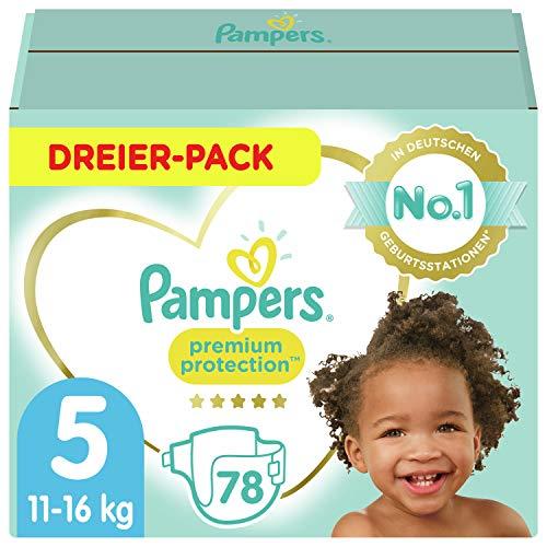 Pampers Größe 5 Premium Protection Baby Windeln, 78 Stück, Weichster Komfort Und Schutz (11-16kg)