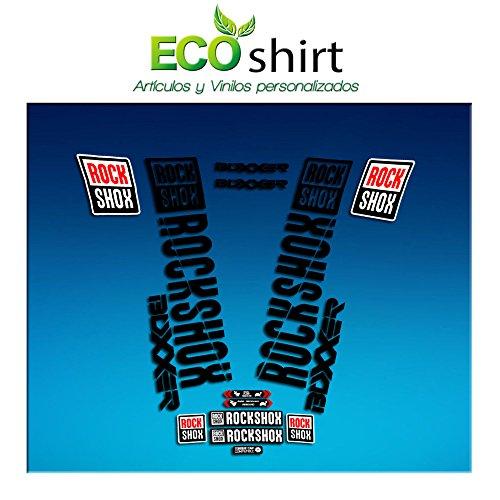 Ecoshirt WC-VPHJ-N8HY sticker Fork Rock Shox Boxxer 2018 Am180 stickers decals stickers vork, zwart