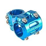 CHROMAG HiFi V2 - Potencia para Bicicleta de montaña/MTB Direct Mount Dia. 31,8 mm Adulto, Unisex, Azul, 31 mm.