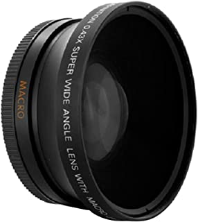 FLAMEER 0.43倍 67mm 超広角&マクロレンズ コンバージョンレンズ Canon Olympus Nikon Sony カメラ用