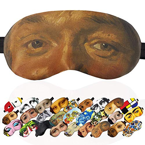 Sleep Mask Masterpieces for Men - 100% Soft Cotton - Comfortable Eye Sleeping Mask Night Cover Blindfold for Travel Airplane (Frans Hals, Plastic Pack)