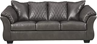 Signature Design by Ashley - Betrillo Faux Leather Full Sofa Sleeper, Gray