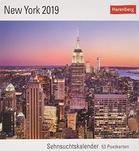 New York - Kalender 2019: Sehnsuchtskalender, 53 Postkarten