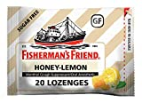 Fisherman's Friend Cough Drops, Cough Suppressant and Sore Throat Lozenges, Sugar Free Honey-Lemon, Strong and Soothing Honey Lemon Flavor, 5.5mg Menthol, 20 Count (Pack of 24)