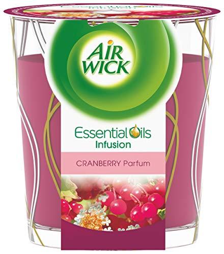 Air Wick Desodorisant Maison Bougie Parfumée Huiles Essentielles Cranberry