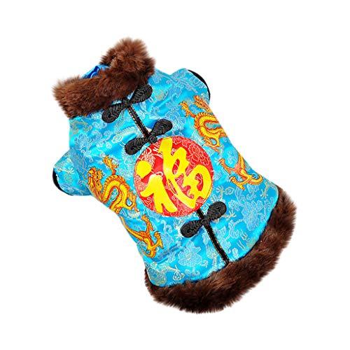 Yowablo Pullover Hunde Winterparka Regenmantel Outwear Parka Coat Winddichte Überzieher Softshelljacke Übergangjacke Weste Steppweste Outdoor Weste Hooded Weste Rundhals (S,1- Blau)