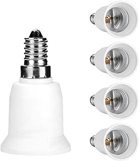 Royal Apex 5pcs E14 to E27 5-Pack Lamp Holder Converter Base Bulb Socket Adapter LED Light Screw Adapter Converter
