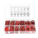 FTVOGUE 600 pezzi 12 misure Rondella piatta in fibra di acciaio rossa Kit rondella isolant...