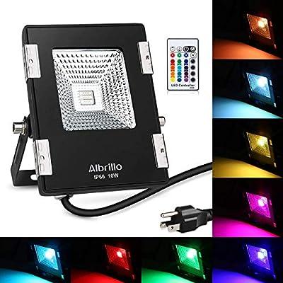 Albrillo LED Flood Light with Remote, RGB