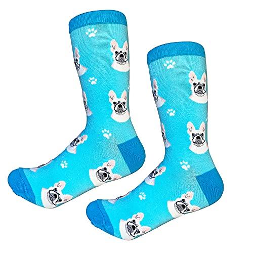 French Bulldog Socks -200 Needle Count-Cotton Socks- Life Like Detail of Frenchbulldog - Unisex, One Size Fits Most