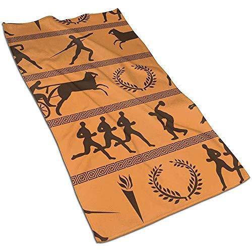 Snbin Olimpiadas griegas Antiguas Toallas de Microfibra Toallas Toallas de Secado rápido Toallas Deportivas (40x70cm) Uso para Viajes, Fitness, Yoga