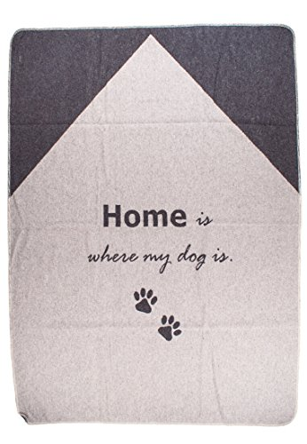 David Fussenegger - Haustierdecke - Home is Where My Dog is- Filz - Material: 85% Baumwolle, 8% Viskose, 7% Polyacryl - 100/140